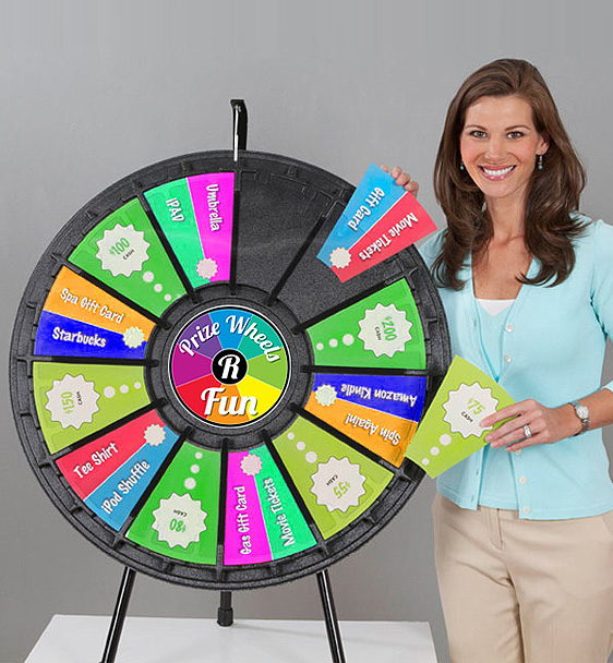 12-24 slot Tabletop Prize Wheel with Quality Graphics