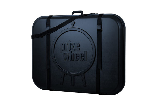 Made in USA Plastic Prize Wheel Travel Case Black
