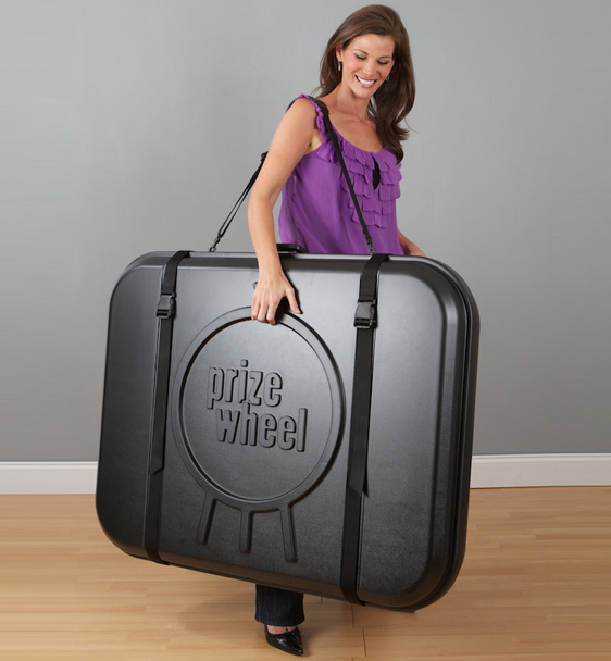 Hard Plastic Prize Wheel Travel Case Made in USA