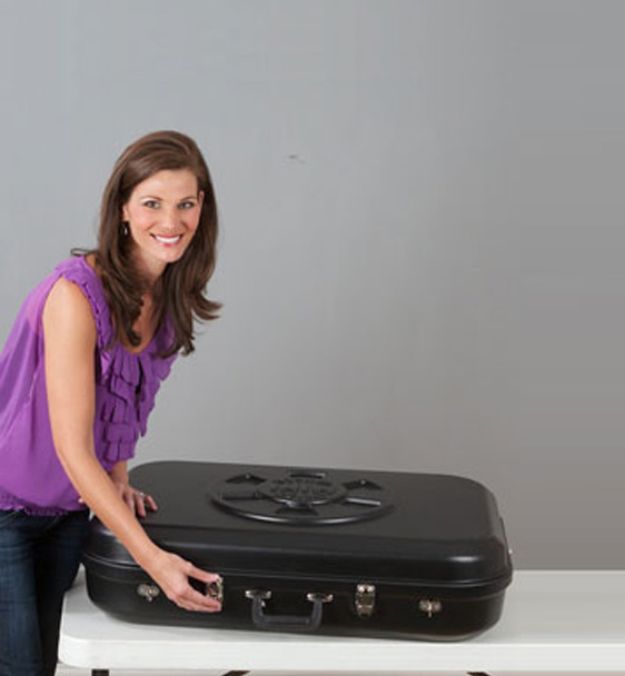 Mini Prize Wheel Super Durable Travel Case with Model