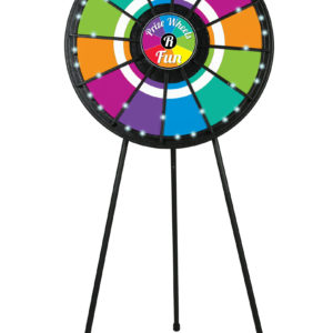 12 slot Floor Stand Prize Wheel with LED Lights Built-in