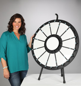 12–24 slot Tabletop Prize Wheel with Lights