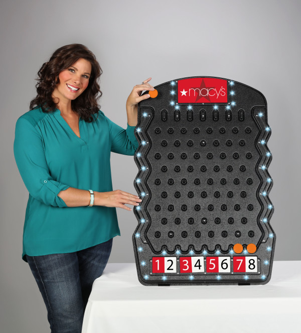Made in USA Black Plinko with LED Lights Prize Drop Game