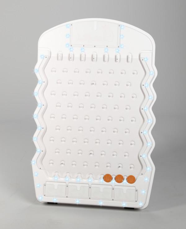 White Mini Prize Drop with LED Lights USA Plinko