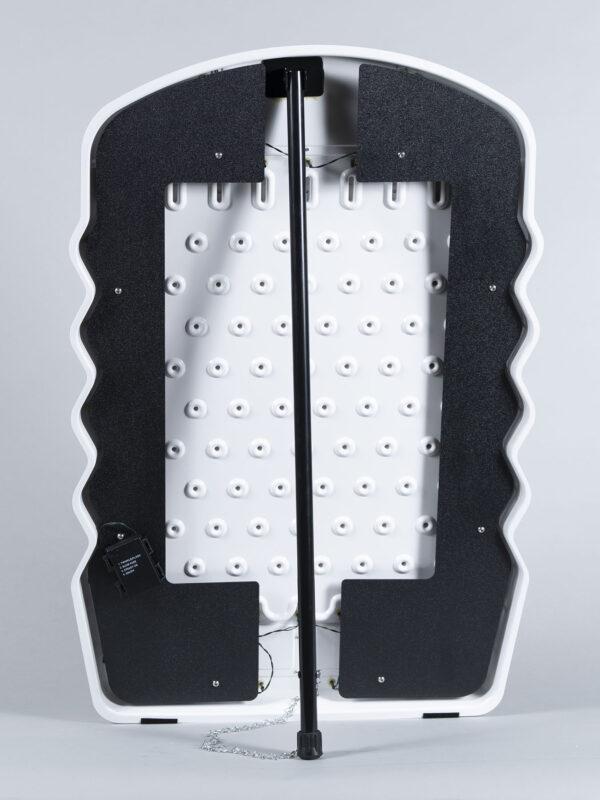 Mini Prize Drop Plinko with LED Lights Back White