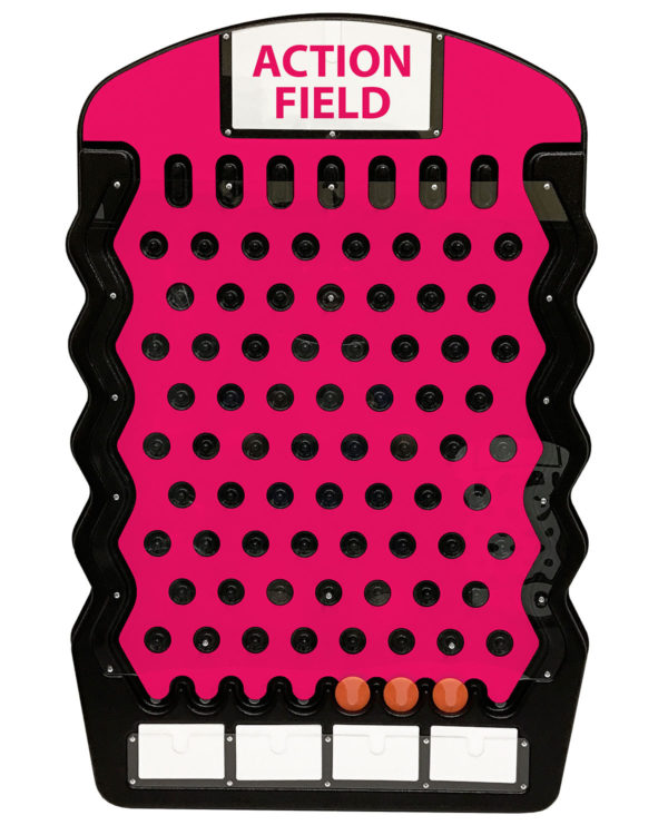 Black Plinko Action Field Example Prize Drop