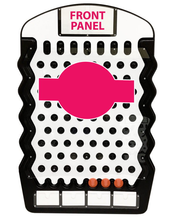Black Mini Prize Drop Front Panel Graphics Example