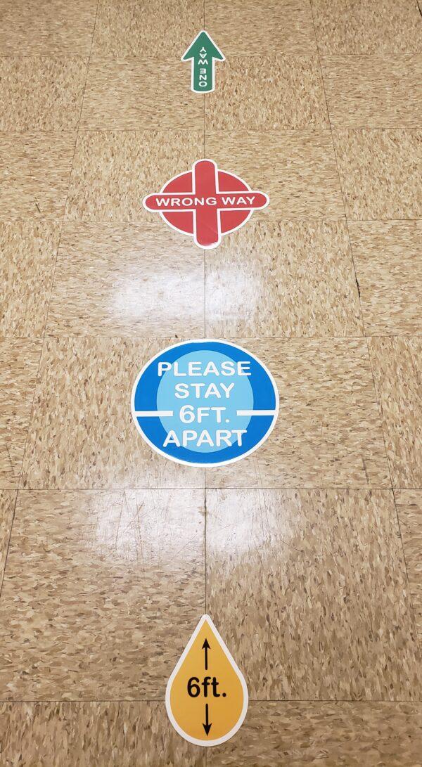 Custom Floor Decals Vinyl Full Color PPE
