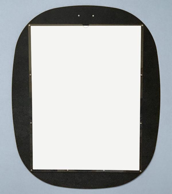 Custom Display Oval Black Blank